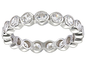 Bella Luce® 2.88ctw Round Diamond Simulant Rhodium Over Sterling Silver Ring
