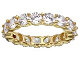 Bella Luce® 6.08ctw Round Diamond Simulant 18k Yellow Gold Over Silver Ring