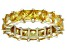 Bella Luce® 6.75ctw Yellow Diamond Simulant 18k Yellow Gold Over Silver Ring