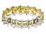 Bella Luce® 6.75ctw Princess Yellow Diamond Simulant Rhodium Over Silver Ring