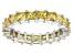 Bella Luce® 4.75ctw Princess Yellow Diamond Simulant Rhodium Over Silver Ring