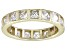 Bella Luce® 4.00ctw Princess Diamond Simulant 18k Yellow Gold Over Silver Ring