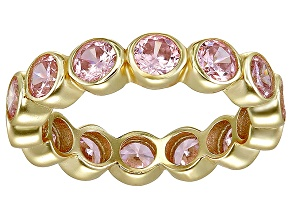 Bella Luce® 4.94ctw Pink Diamond Simulant 18k Yellow Gold Over Silver Ring