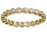 Bella Luce® 1.00ctw Pink Diamond Simulant 18k Yellow Gold Over Silver Ring