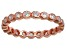 Bella Luce® 1.00ctw Round Diamond Simulant 18k Rose Gold Over Silver Ring