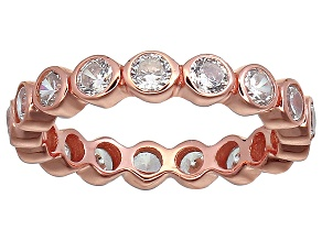 Bella Luce® 2.88ctw Round Diamond Simulant 18k Rose Gold Over Silver Ring