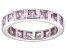 Bella Luce® 4.00ctw Princess Pink Diamond Simulant Rhodium Over Silver Ring