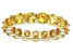Bella Luce® 6.08ctw Yellow Diamond Simulant 18k Yellow Gold Over Silver Ring