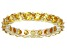 Bella Luce® 3.60ctw Yellow Diamond Simulant 18k Yellow Gold Over Silver Ring