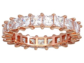 Bella Luce® 4.75ctw Princess Diamond Simulant 18k Rose Gold Over Silver Ring