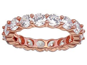 Bella Luce® 6.08ctw Round Diamond Simulant 18k Rose Gold Over Silver Ring