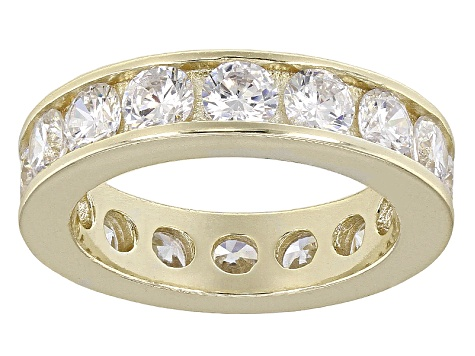 Bella Luce® 5.70ctw Round Diamond Simulant 18k Yellow Gold Over Silver Ring