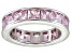 Bella Luce® 6.75ctw Princess Pink Diamond Simulant Rhodium Over Silver Ring