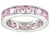Bella Luce® 5.7ctw Round Pink Diamond Simulant Rhodium Over Silver Ring