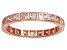Bella Luce® 1.40ctw Princess Diamond Simulant 18k Rose Gold Over Silver Ring