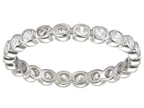 Bella Luce® 1.00ctw Round Diamond Simulant Rhodium Over Sterling Silver Ring
