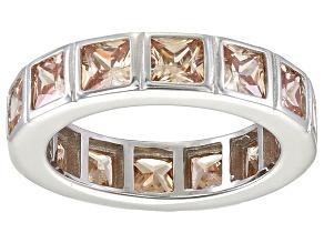Bella Luce® 5.85ctw Champagne Diamond Simulant Rhodium Over Silver Ring