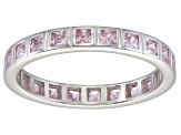 Bella Luce® 1.40ctw Princess Pink Diamond Simulant Rhodium Over Silver Ring