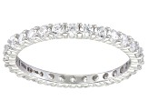 Bella Luce® 1.40ctw Round Diamond Simulant Rhodium Over Sterling Silver Ring