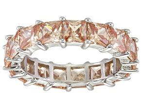 Bella Luce® 6.75ctw Champagne Diamond Simulant Rhodium Over Silver Ring