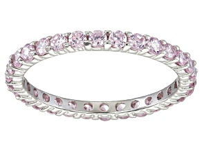 Bella Luce® 1.40ctw Round Pink Diamond Simulant Rhodium Over Silver Ring