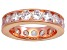 Bella Luce® 5.7ctw Round Diamond Simulant 18k Rose Gold Over Silver Ring