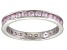 Bella Luce® 1.35ctw Round Pink Diamond Simulant Rhodium Over Silver Ring