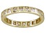 Bella Luce® 1.40ctw Princess Diamond Simulant 18k Yellow Gold Over Silver Ring