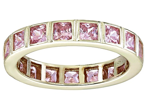 Bella Luce® 4.00ctw Pink Diamond Simulant 18k Yellow Gold Over Silver Ring