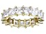 Bella Luce® 6.75ctw Princess Diamond Simulant 18k Yellow Gold Over Silver Ring