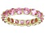 Bella Luce® 6.08ctw Pink Diamond Simulant 18k Yellow Gold Over Silver Ring