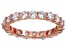 Bella Luce® 3.60ctw Round Diamond Simulant 18k Rose Gold Over Silver Ring