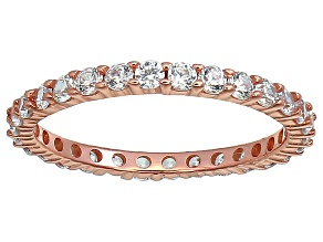 Bella Luce® 1.40ctw Round Diamond Simulant 18k Rose Gold Over Silver Ring