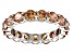 Bella Luce® 6.08ctw Round Champagne Diamond Simulant Rhodium Over Silver Ring