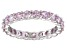 Bella Luce® 3.60ctw Round Pink Diamond Simulant Rhodium Over Silver Ring