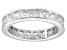 Bella Luce® 4.75ctw Princess Diamond Simulant Rhodium Over Silver Ring