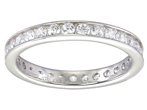 Bella Luce® 1.35ctw Round Diamond Simulant Rhodium Over Sterling Silver Ring