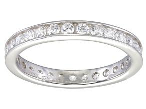 Bella Luce® 1.35ctw Round Diamond Simulant Rhodium Over Sterling Silver Ring