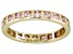 Bella Luce® 1.40ctw Pink Diamond Simulant 18k Yellow Gold Over Silver Ring