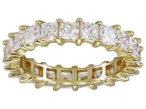 Bella Luce® 4.75ctw Princess Diamond Simulant 18k Yellow Gold Over Silver Ring