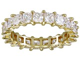 Bella Luce® 4.75ctw Princess Diamond Simulant 18k Yellow Gold Over Silver Ring
