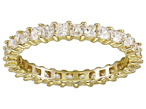 Bella Luce® 1.96ctw Princess Diamond Simulant 18k Yellow Gold Over Silver Ring