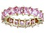 Bella Luce® 6.75ctw Pink Diamond Simulant 18k Yellow Gold Over Silver Ring