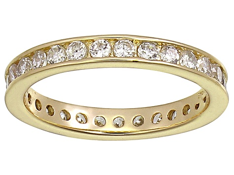 Bella Luce® 1.35ctw Round Diamond Simulant 18k Yellow Gold Over Silver Ring