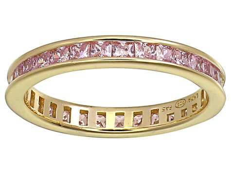 Bella Luce® 1.96ctw Pink Diamond Simulant 18k Yellow Gold Over Silver Ring