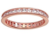 Bella Luce® 1.96ctw Princess Diamond Simulant 18k Rose Gold Over Silver Ring