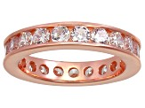 Bella Luce® 3.42ctw Round Diamond Simulant 18k Rose Gold Over Silver Ring
