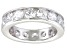 Bella Luce® 5.70ctw Round Diamond Simulant Rhodium Over Silver Eternity Ring