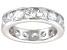 Bella Luce® 5.70ctw Round Diamond Simulant Rhodium Over Silver Eternity Ring