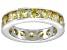 Bella Luce® 5.7ctw Round Yellow Diamond Simulant Rhodium Over Silver Ring